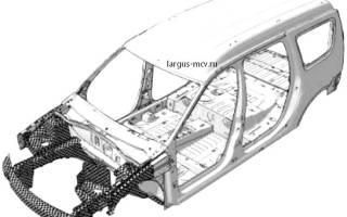Панель задка лада ларгус
