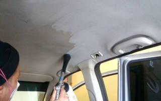 Чем очистить потолок в машине своими руками