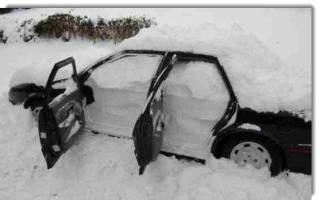 Ставим машину на зиму в гараж