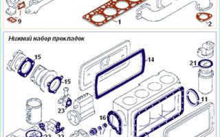 Прокладка верхней крышки двигателя