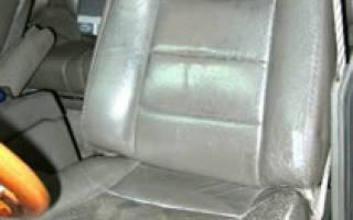 Покраска кожаного салона автомобиля