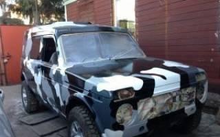 Покраска авто в камуфляж своими руками