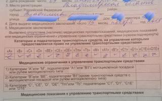 Справка на медосмотр на водительские права